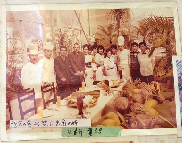 開園当初の写真。伊豆急線が昭和36年12月に下田駅まで通り、植物園はそれに合わせて開園したそう。当時はここでは珍しい洋食メニューがあった。東京から住み込みでシェフを呼んでいたらしい。今も下田のご老人が来ると、『昔はここにビーフシチューを食べにきた』と教えてくれるらしい