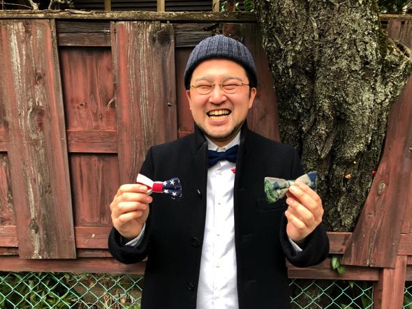 清水章弘さん。地元が静岡県浜松出身。現在はネクタイブランドの会社に勤務している