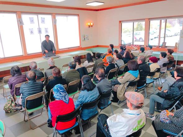 また、勝田さんは南伊豆町で活動する素人落語集団『南伊豆落語研究会』の会長。「麺亭たらこ」として、定期的に寄席を開催している。※弟子も募集中!