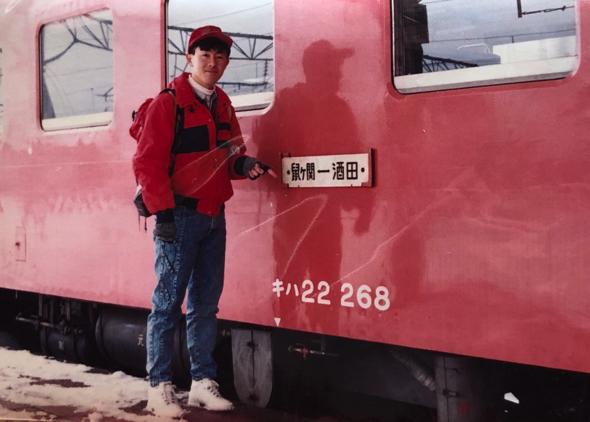 夜行列車で旅をしていたそうだ。功さん、若い!